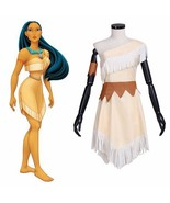 De free shipping princess pocahontas dress short spring princess dress cosplay costume thumbtall