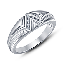 925 Sterling Silver White Gold Plated Round Cut Diamond New Fancy Weddin... - $63.58