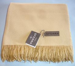 "Sferra BRISTOL Throw Honey Yellow Fringed Soft Pima Cotton Alpaca 51x71""... - $2.861,50 MXN"