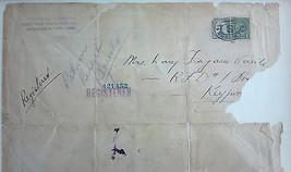 September 3, 1924 USPS Registered Mail Stamped Envelope Framed w/ Postage Stamp  - $5.93