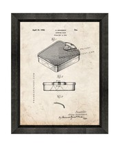 Bathroom Scale Patent Print Old Look with Beveled Wood Frame - $24.95+