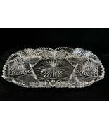 """American Brilliant Cut Glass Ice Cream Tray 14 1/2""""L Near Mint Antique 1... - $369.33"""