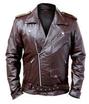 Brown Brando Men Genuine Leather Jacket - $300.00