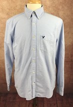 American Eagle Outfitters Classic Fit 100% Cotton Blue Oxford Shirt Men's L - $17.81