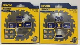 "(New) Irwin Marathon 5-1/2"" 18 T Circular Blade 14027 Lot of 2 - $18.80"
