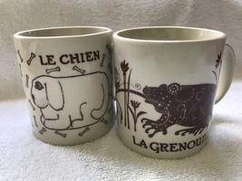 Taylor And Ng-1978-San Francisco-two Mugs-dog and Frog - $20.00
