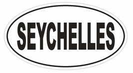 Seychelles Oval Bumper Sticker or Helmet Sticker D2315 Euro Oval Country Code - $1.39+
