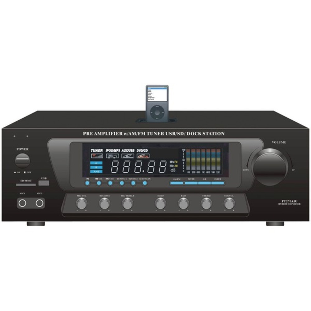 Primary image for Pyle Home PT270AIU 30-Watt Stereo AM/FM Receiver with Dock for iPod