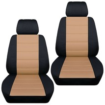 Front set car seat covers fits Chevy Spark  2013-2020   black and tan - $67.89+