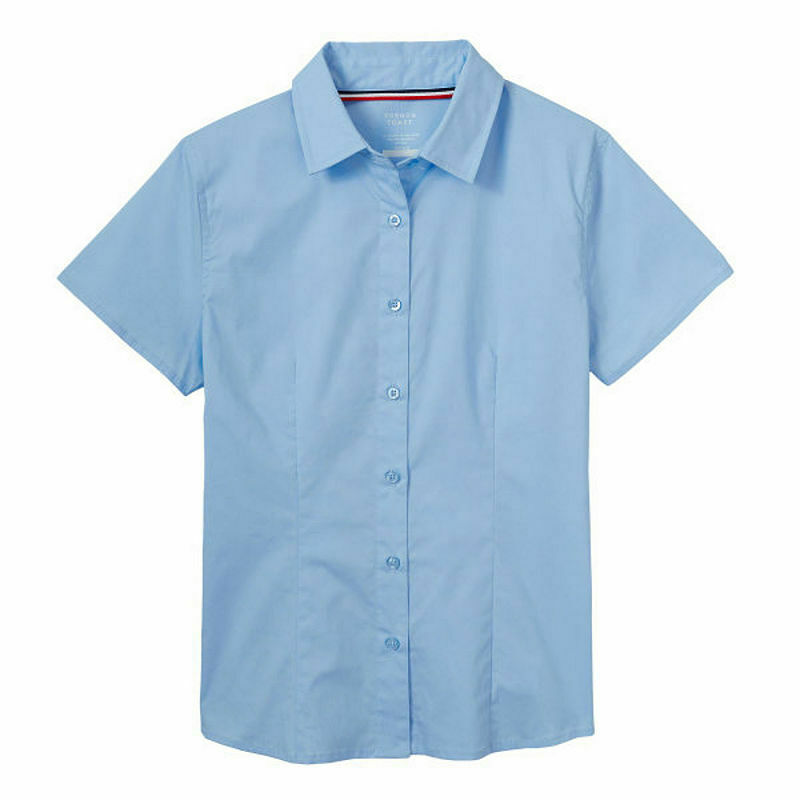 FRENCH TOAST LITTLE GIRLS' SHORT SLEEVE SHIRT LT. BLUE NWT SIZE 12 :B19-1 - $12.48