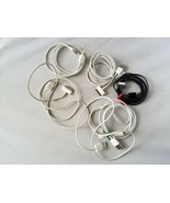 Apple iPhone iPod Chargers Lot of 6 White Black USB To Apple Charger - $18.59