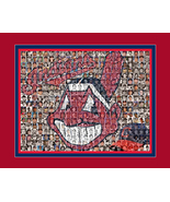 Cleveland Indians Mosaic Print Art Designed using over 200 Inidans Playe... - $40.00+