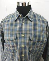 Men's Tommy Jeans by Hilfiger Multi Color Plaid  Long Sleeve Shirt Size: L - $19.12