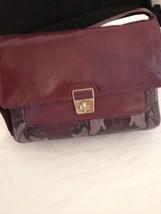 Designer Purple Leather Cole Haan Designer Handbag - New with Tag - $140.00