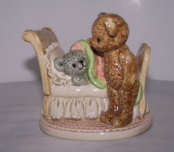 Vintage Otagiri Shubert's Lullaby San Francisco Music Box Co Tuck Bear I... - $8.99