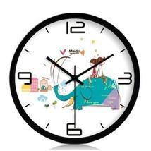 10-inch Silent fashion Art Pastoral Round Wall Clock,BLACK (NO.410) - $40.20