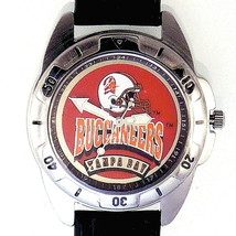 Tampa Bay Buccaneers NFL, Fossil Unworn Mans Vintage 1995 Leather Band Watch $75 - $74.10