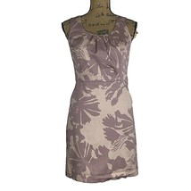 Ann Taylor LOFT Dress 4 P Sm Sheath Pocket Dusty Pink Purple Silhouette ... - $12.54