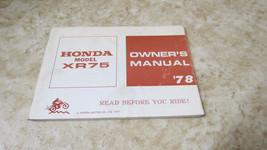 Nos Oem Honda XR75 1978 Owners Manual L-241 - $65.43
