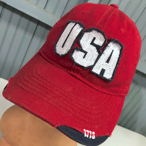 USA Patriotic Retro Distressed Adjustable Baseball Cap Hat - $13.75