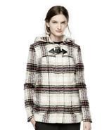 NWT Women's Thakoon for DesigNation Kohl's Plaid Hooded Flannel Coat Sz ... - $84.14