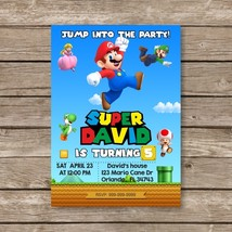 Super Mario Digital Invitation, Mario Bros Luigi Birthday Invites - $8.90