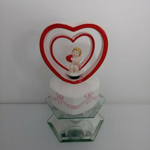 Vintage Lefton Valentine's Hearts Cupid Music Box #04393 - $58.00