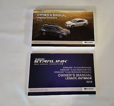 2018 Subaru Legacy / Outback Owners Manual with Nav Manual 05181