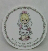 "VINTAGE 1990 PRECIOUS MOMENTS MINI PLATE "" THIS DAY HAS BEEN MADE IN HEA... - $15.22"