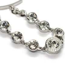 REBECCA BRONZE BRACELET, TENNIS WHITE CRYSTALS 7 MM, BPBBBB33 MADE IN ITALY image 2