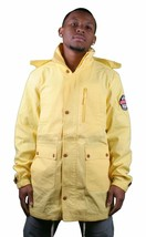 Crooks and Castles League Zip Hooded Yellow Parka Coat Jacket