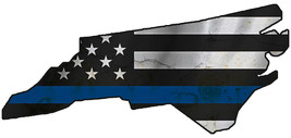 Thin Blue Line Police State of  North Carolina Laser CutOut Metal Sign 1... - $25.74