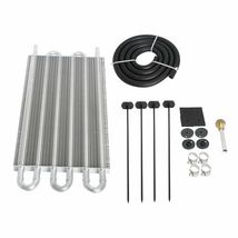 6 Row Transmission Oil Cooler & Mounting Kit Radiator Remote Aluminum - $28.08