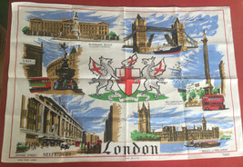 Vintage London cloth towell wall hanging - $15.00