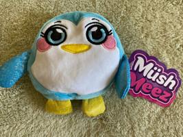"NEW MushMeez Blue White Fleece Sparkle PENJI Penguin 6"" Mushy Stuffed An... - $8.33"