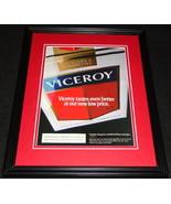 1989 Viceroy Cigarettes Framed 11x14 ORIGINAL Advertisement - $32.36