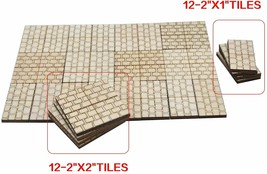 Dungeon Stone Square Floor Tiles Set of 24 Wooden Laser Cut D&D Modular - $10.65