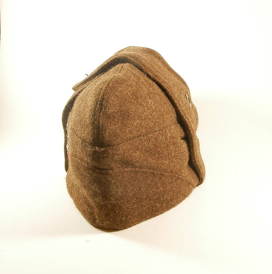 b06adfb432b Vintage Soviet Era Bulgarian military wool pilotka cap hat communist  socialist