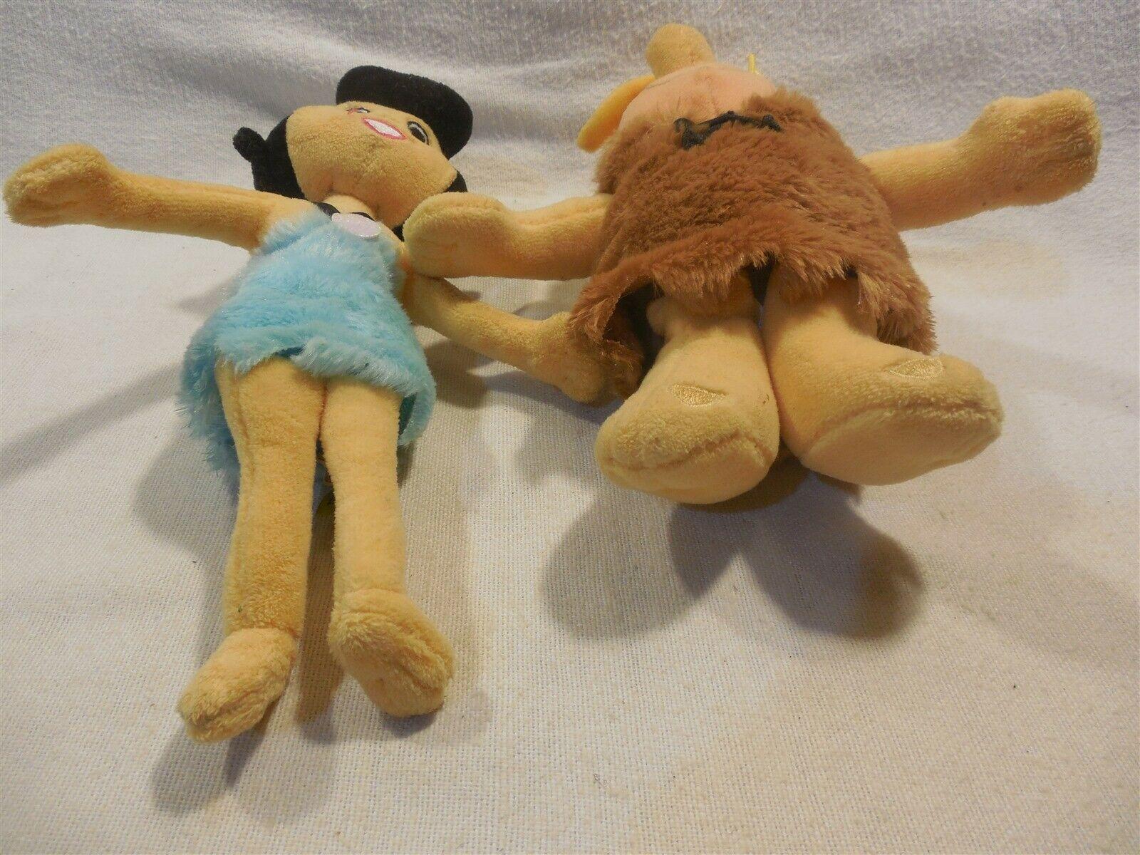 Flintstones Cuddle Factory Stuffed Plush Bean Bag Set Barney & Betty Rubble