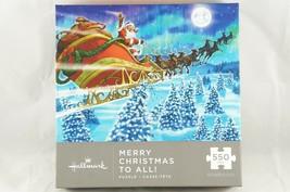 Hallmark Merry Christmas to All Jigsaw Puzzle Santa Claus Reindeer Sleig... - $12.13