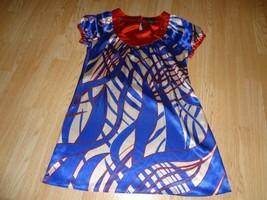Women's BCBG Maxazria M  Red White Blue Long Blouse/Short Dress - $12.73