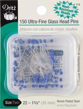 Dritz Ultra-Fine Glass Head Pins 150/Pkg-Size 22 - $17.04