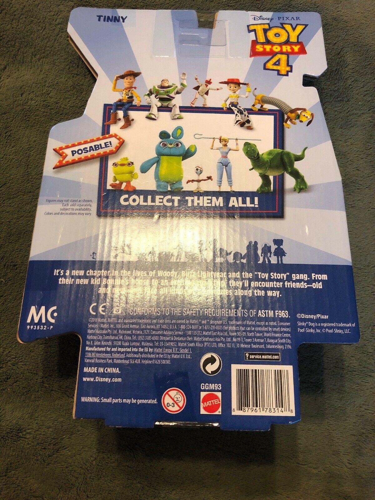 "Toy Story 4 Tinny Figure Disney Pixar 2019 Action Figure Poseable 6"" Inch image 3"