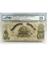 1861 $20 Confederate States of America VA Galleon Ship PMG CT-18 Note PC... - $101.42