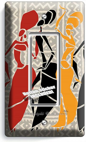 AFRICAN WOMEN TRIBAL DANCE 1 GFCI LIGHT SWITCH WALL PLATE BEDROOM ROOM ART DECOR