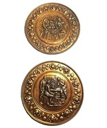 Decorative Brass Wall Plates--Elpec England--Tavern Scenes - $18.00