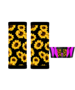 Sunflowers Baby Seat Belt Strap Covers Set of 2 - $14.68