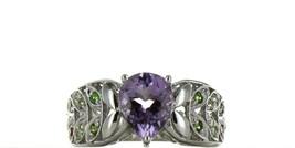 Ladies Size 8 Sterling Silver Amethyst Fashion Ring No, 2100
