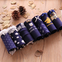 7pc/lot lace lovely navy panties Bow Low Waist Briefs Young girl teenage... - $11.25