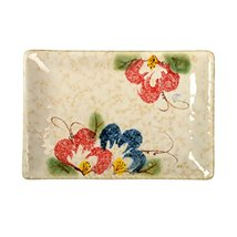 Kylin Express Rectangle Ceramic Dinner Plate Creative Japanese Sushi Plate, D - $23.29